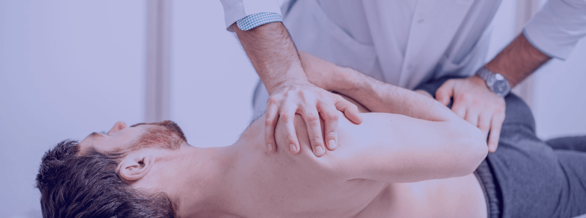 Phisical Therapy perfomed on a shoulder